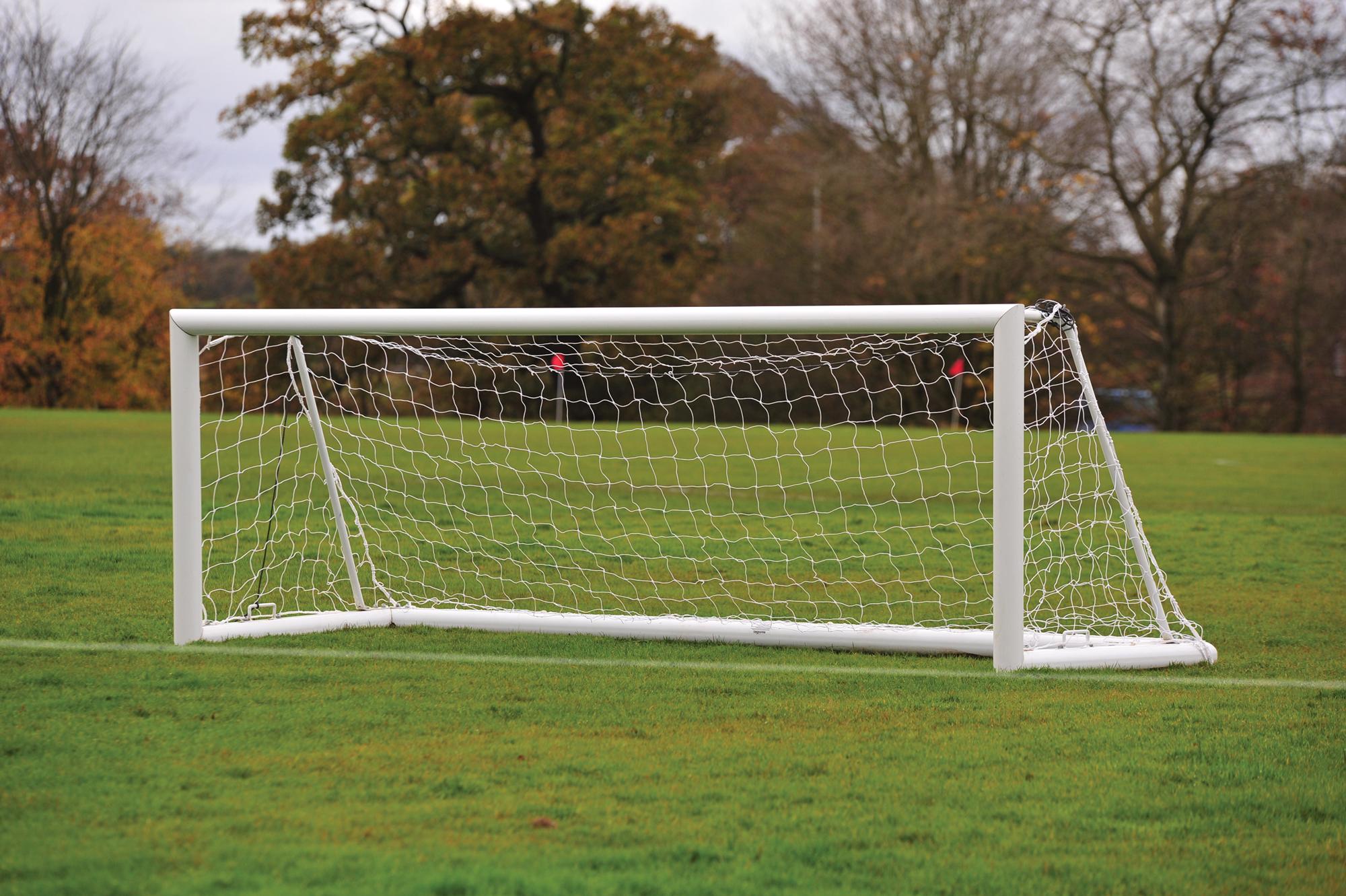 Freestanding Elliptical Aluminium Football Goals Package - 12' x 4'