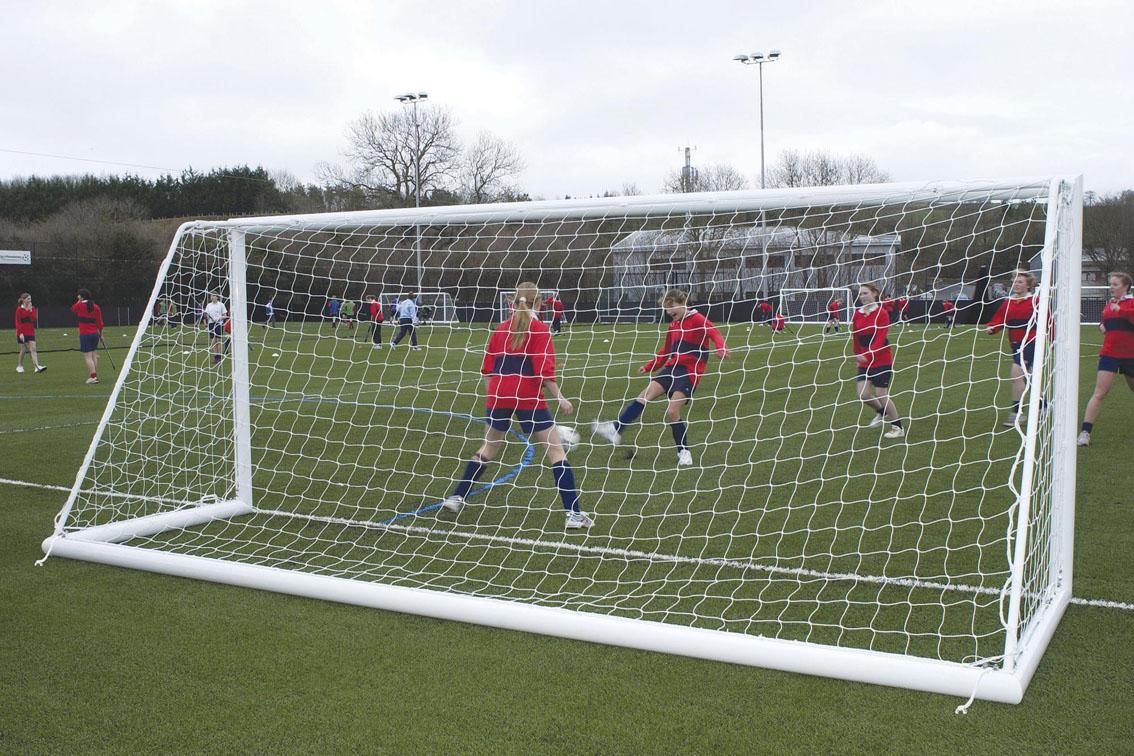 Elliptical Aluminium Freestanding Football Goal Posts - 16' x 6'