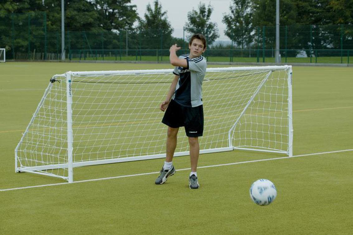 Heavyweight Freestanding Steel Football Goal Posts - 12' x 4'