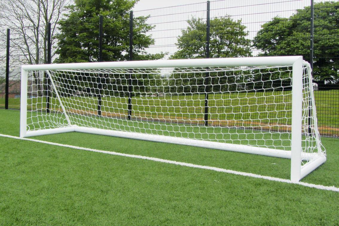 Elliptical Aluminium Freestanding Football Goal Posts - 12' x 4'