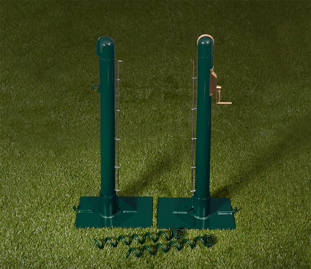 Round Steel Tennis Posts - Grass Court