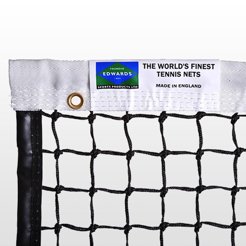 Edwards Championship Tennis Net 3.5mm with Premium Polyester Headband / Quad Stitched