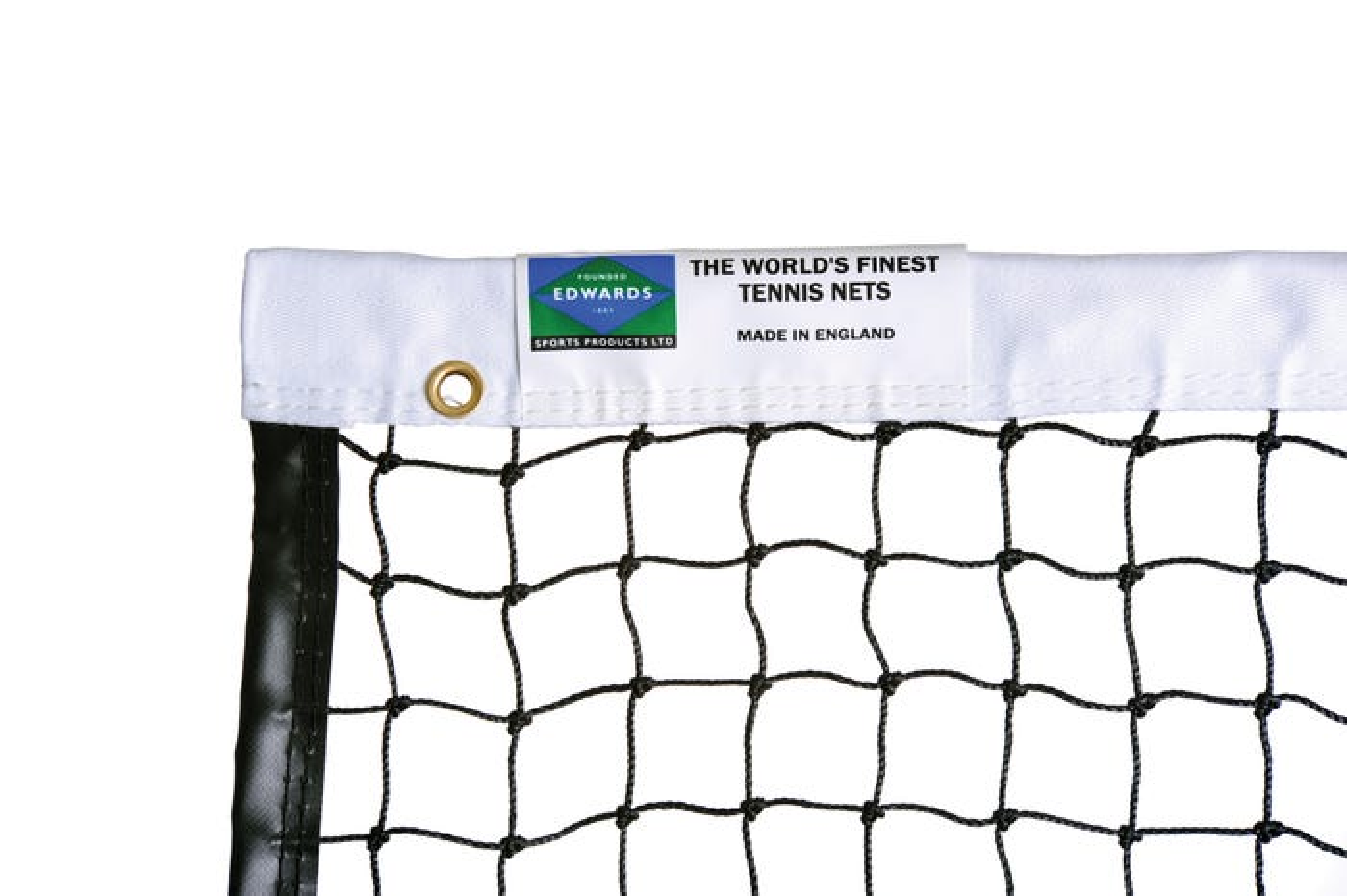 Edwards Club Tennis Net 2mm with Premium Polyester Headband