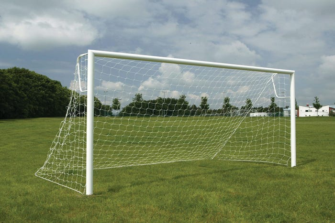 80mm Aluminium Socketed Football Goals Package - 16' x 6'