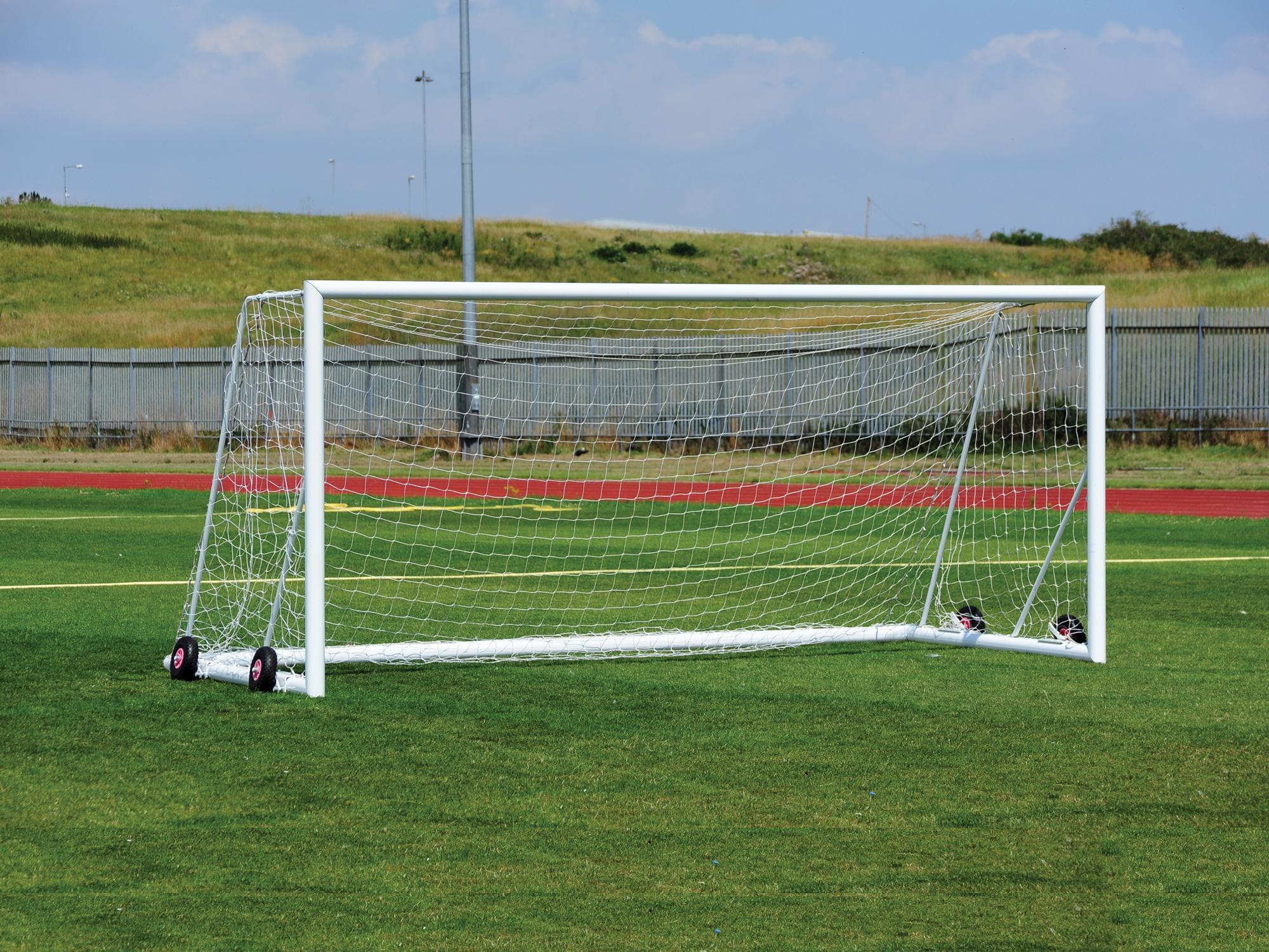Freestanding Aluminium Football Goals Package - 16' x 7'