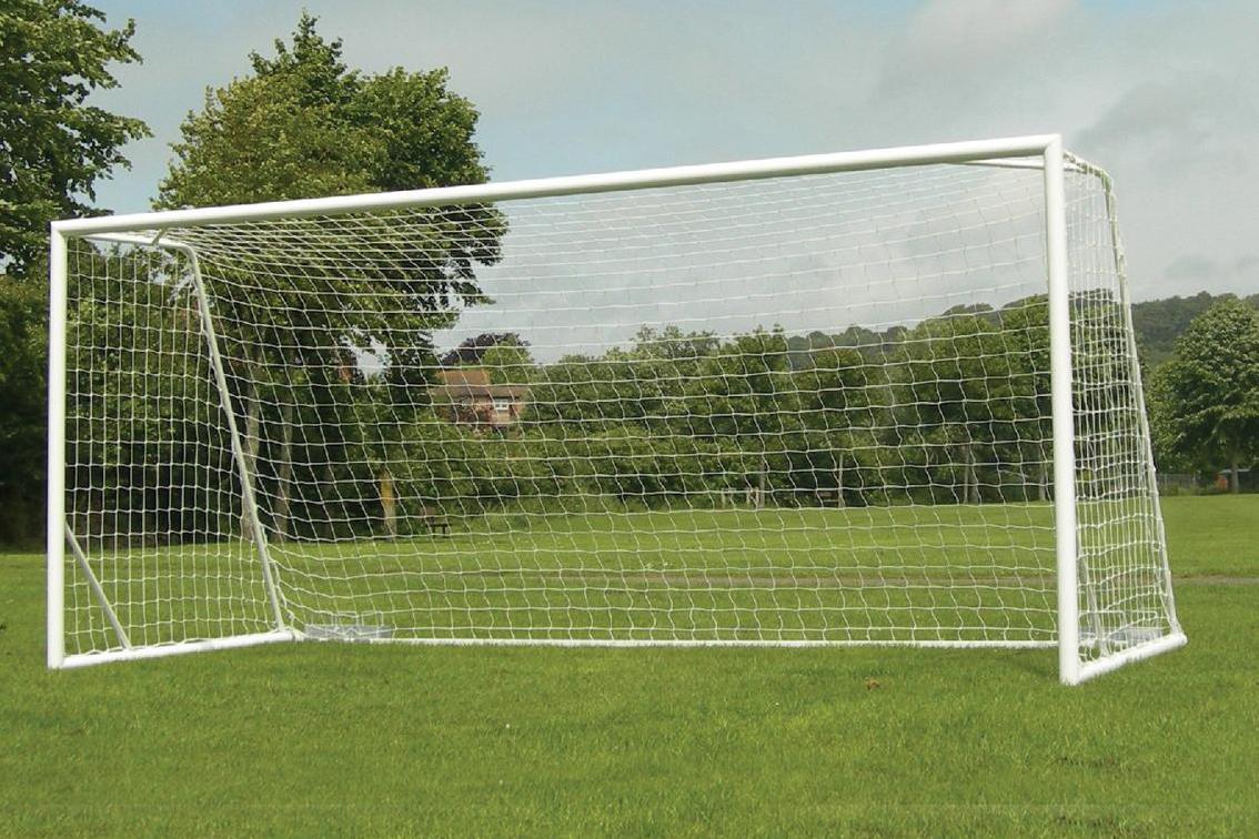 80mm Aluminium Freestanding Football Goals Package - 16' x 7'