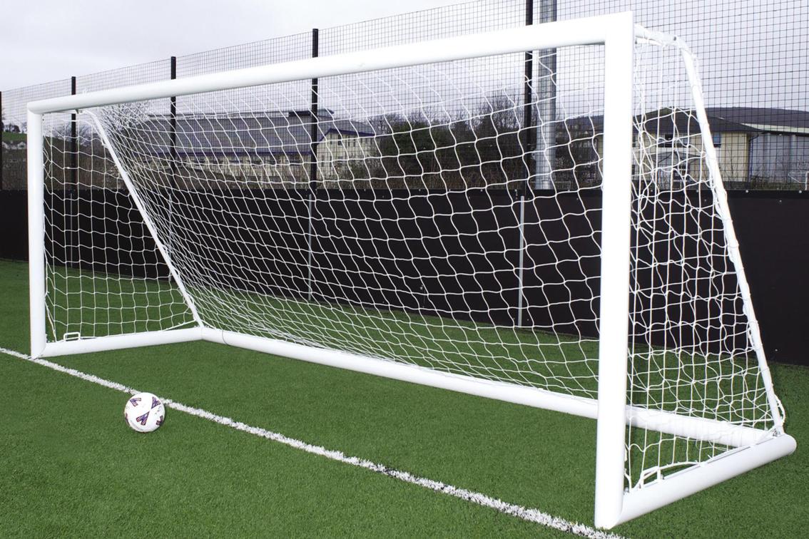 Aluminium Freestanding Football Goal Posts - 16' x 7'