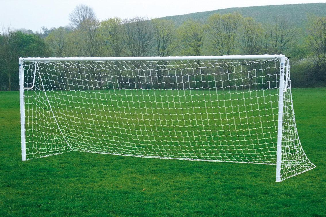 Locking Heavyweight Socketed Steel Football Goals Package - 16' x 6'