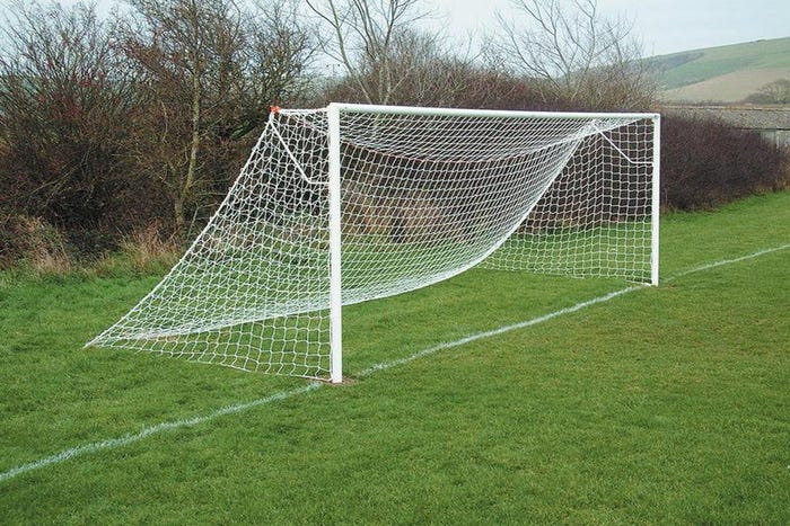 Socketed Steel Football Goal Posts - 21' x 7'