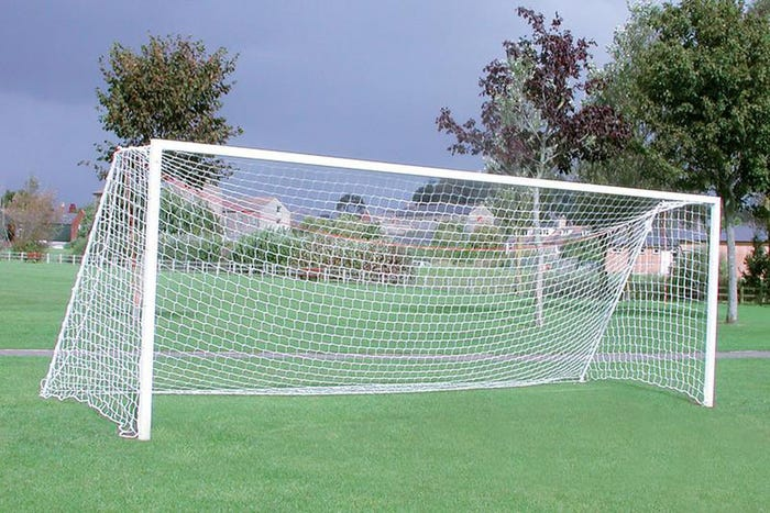 Extra Heavyweight Square Socketed Football Goals Package - 21' x 7'