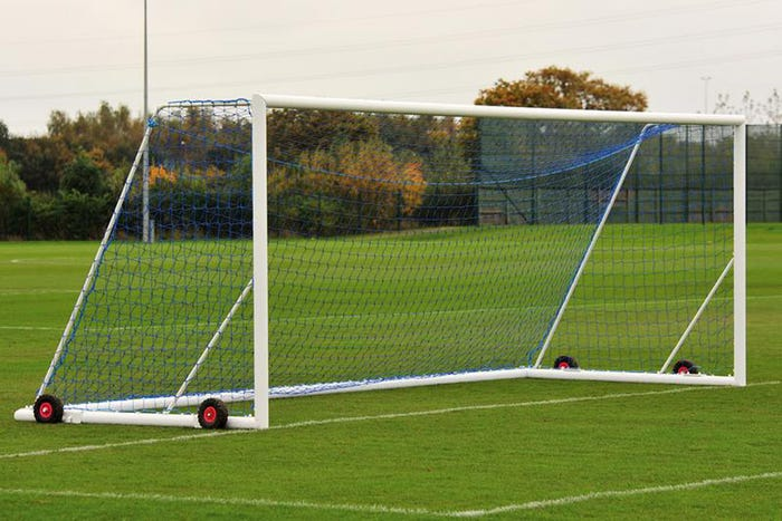 Elliptical Aluminium Freestanding Football Goals Package - 24' x 8'
