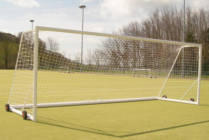 Self Weighted Rollaway Football Goal Posts - 21' x 7'