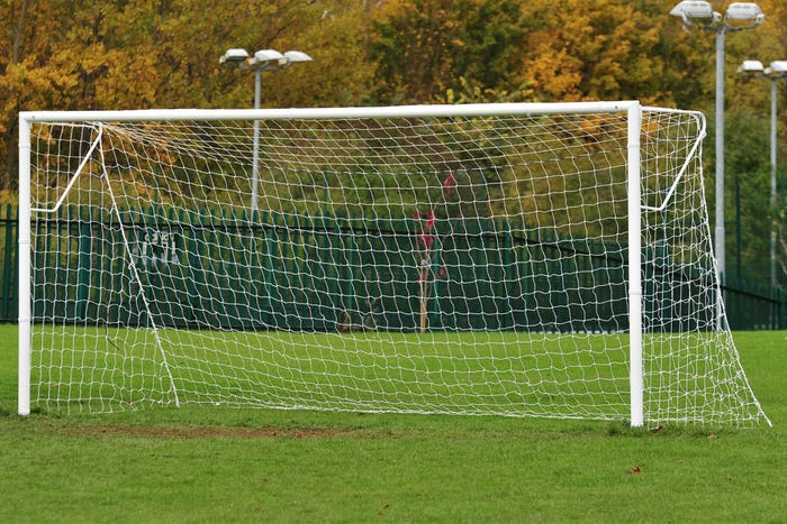 Socketed Steel Football Goal Posts - 16' x 7'