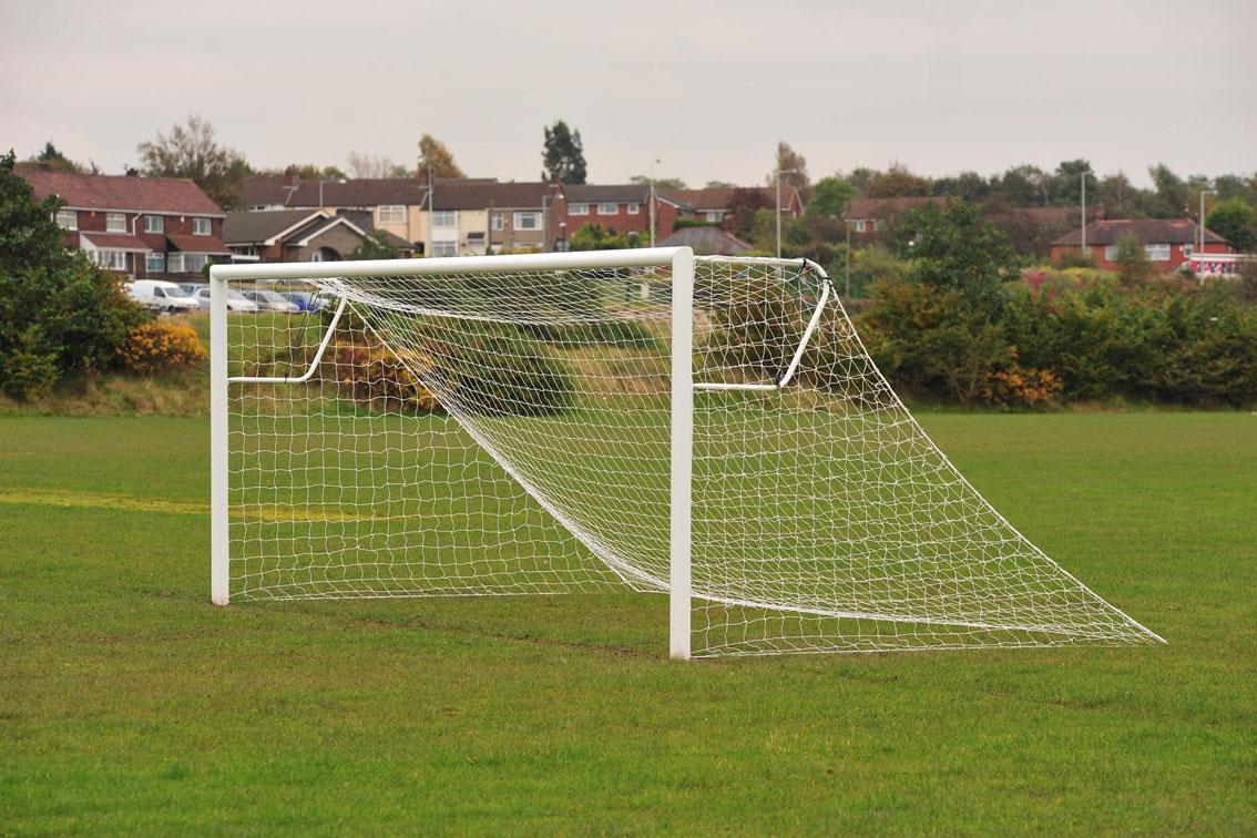 Aluminium Socketed Football Goals Package - 21' x 7'
