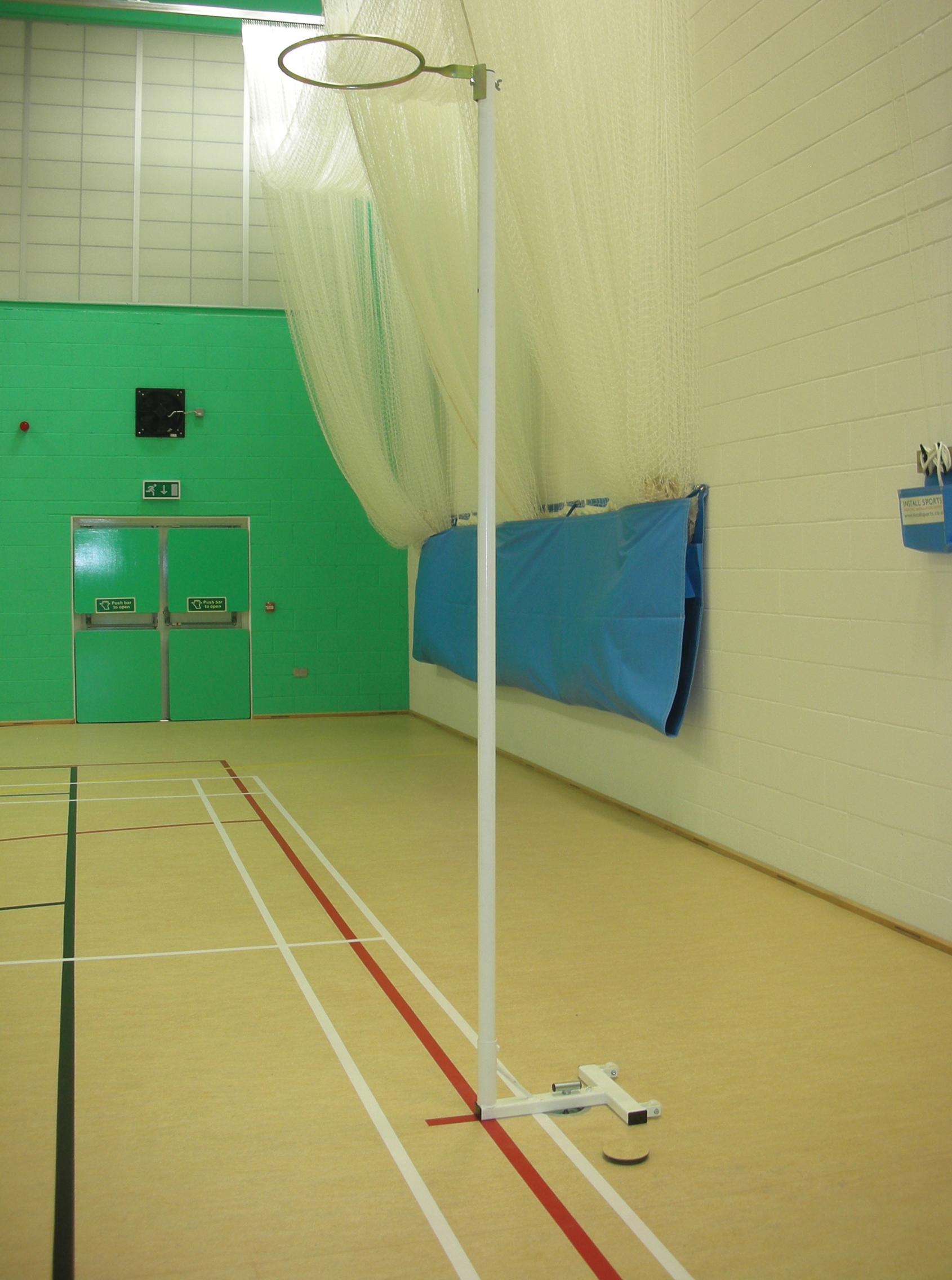 Stadia Floor Fixed Sports Hall Netball Posts