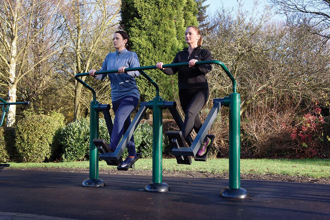 Double Health Walker | outdoor cross trainer | outdoor fitness equipment from Sunshine Gym