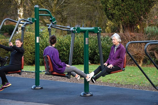 Double squat push |outdoor leg press | outdoor fitness equipment from sunshine gym