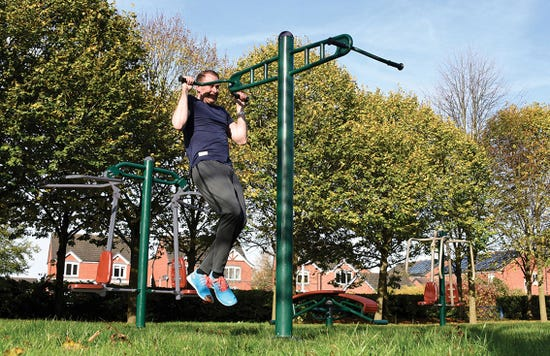 Double pull up | outdoor pull up | outdoor fitness equipment from sunshine gym