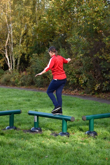 Outdoor Balance Beams   Outdoor gym fitness trail equipment   Adults' Outdoor Gym Equipment by Sunshine Gym