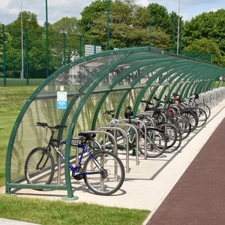 Littleborough Cycle Shelters with HPS Colorcoat