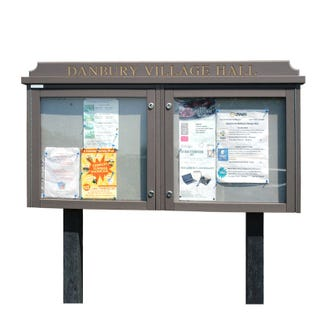 Double Bay 'Man-Made Timber' Noticeboard (Displays 12 x A4 Sheets)