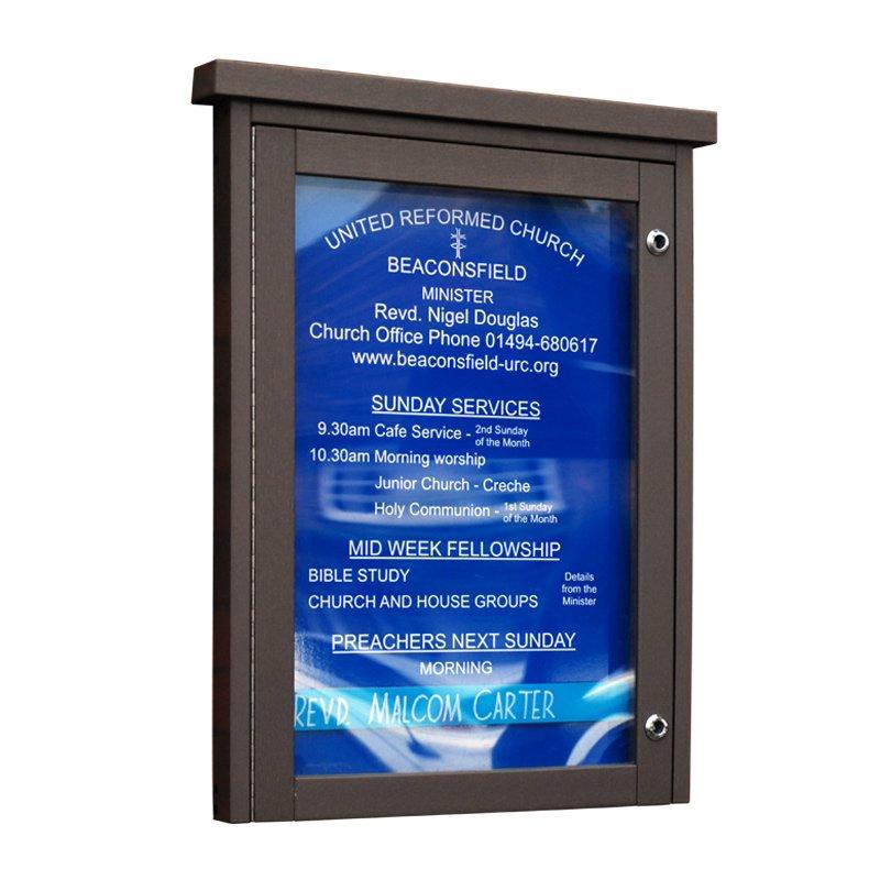 'Man-Made Timber' Noticeboard (Displays 4 x A4 Sheets)