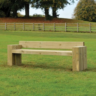 Hodnet Bench | Broxap  | Timber Seating & Benches