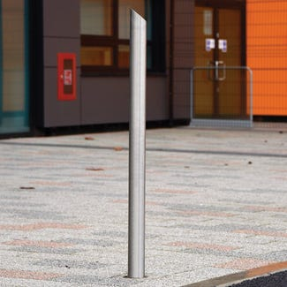 Mitred Top Sheffield Stainless Steel Bollard
