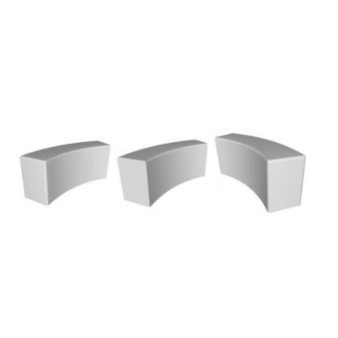 Pendlebury Modular Curved Concrete Bench