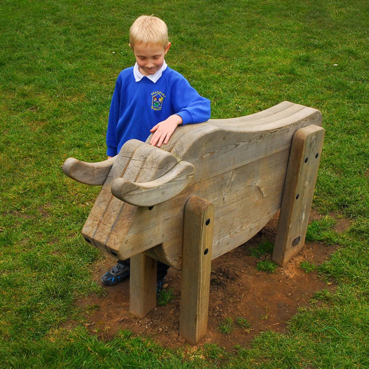 Raging Bull Play Sculpture
